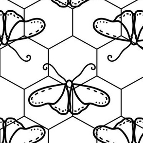 Butterfly Blueprint - 05 - Black and White Positive