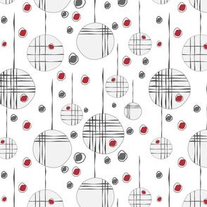 Circles & String Red