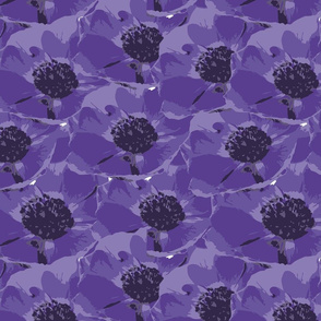 Purple Anemone Flower Design