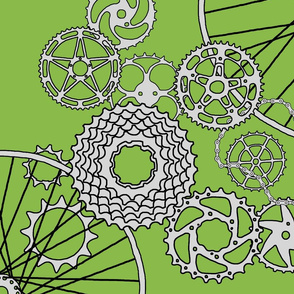 Beautiful bicycle parts - 42 inch yard - apple green - 8ABA49