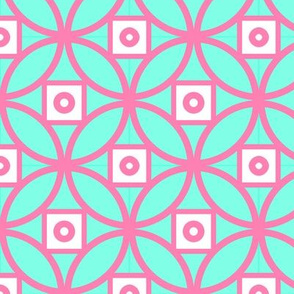 Chinoiserie Coin- Pink and green