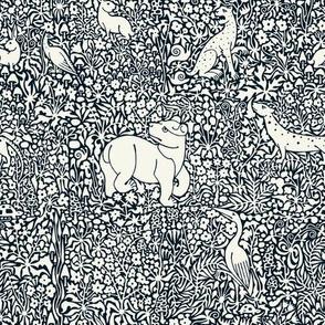 Millefleur Tapestry (Blue)