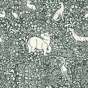 Millefleur Tapestry (Green)