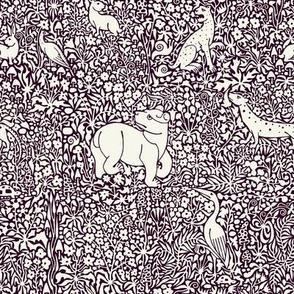 Millefleur Tapestry (Purple)