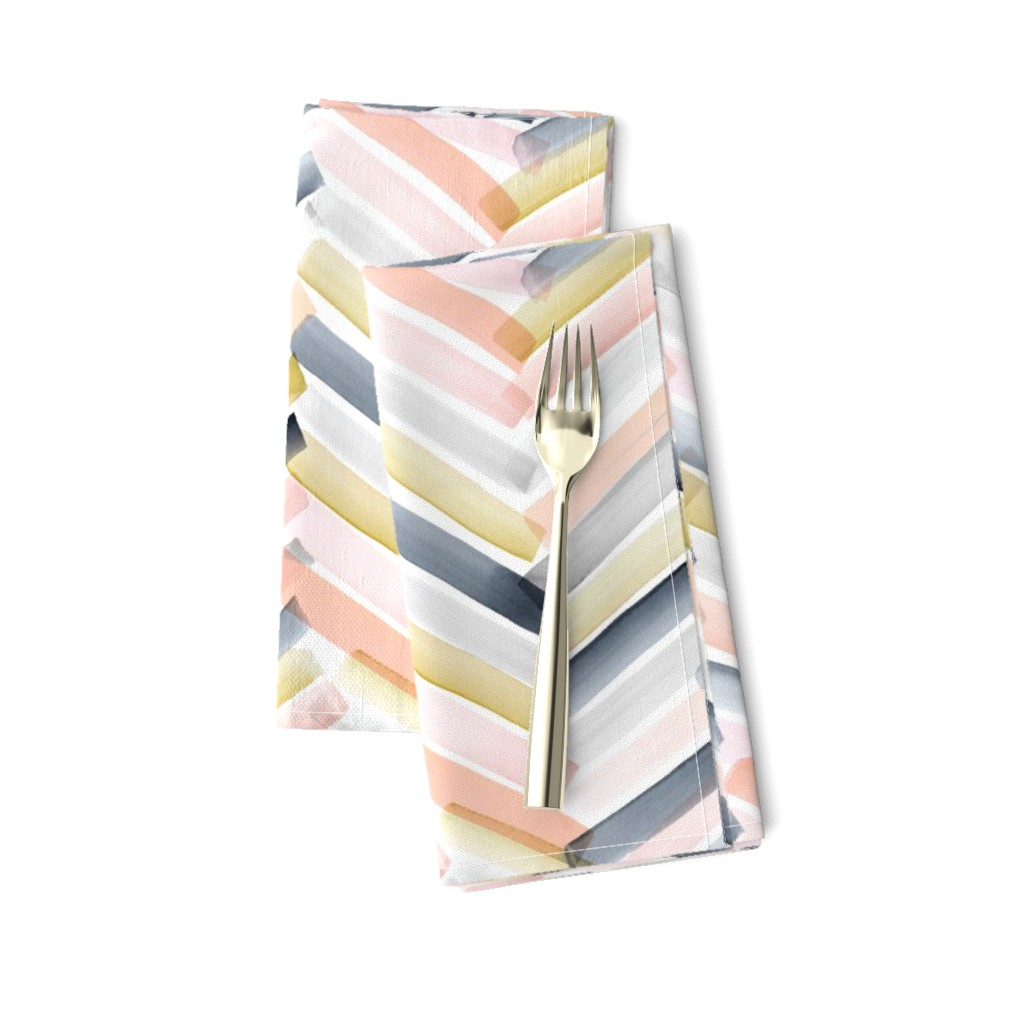 Amarela Dinner Napkins featuring Chevron Blush Navy by crystal_walen