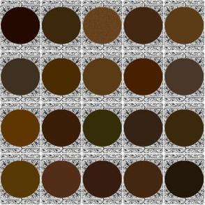 Peacoquette Designs Palette ~ Dark Brown