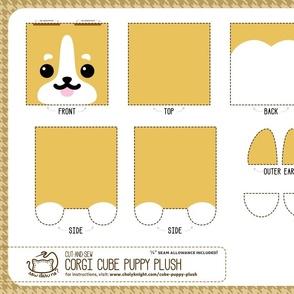 Cut & Sew Corgi Cube Puppy Plush