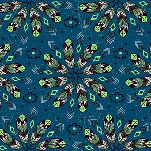 Bohemian Feathers (Teal)