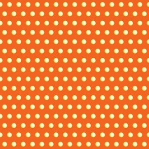 Spherical Yellow Dots on Orange