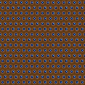 3D looking blue dots on brown