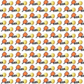 """Pickleball """"Dink"""" pattern in orange and yellow"""