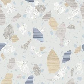 Terrazzo - Neutral Multi on Blue
