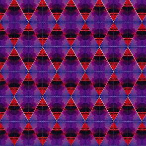 Watercolor Red and Purple Diamonds Upholstery Fabric