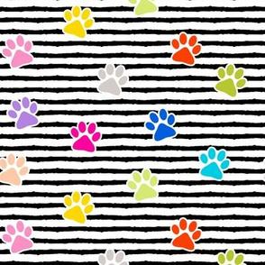 paws on stripes (multi)