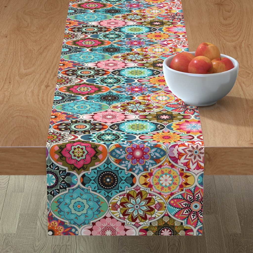 Minorca Table Runner featuring Bohemian summer by camcreative