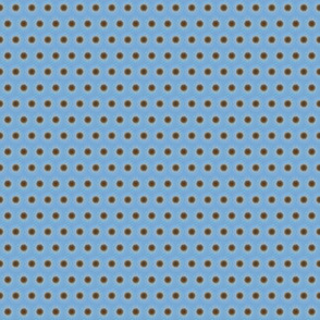 Brown Polka Dots on a Field of Light Blue