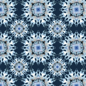 curly mandala in blue