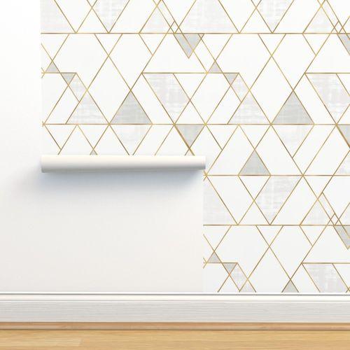 Wallpaper Mod Triangles White Gold