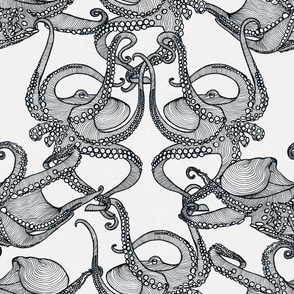 Cephalopod - Octopi Black & White