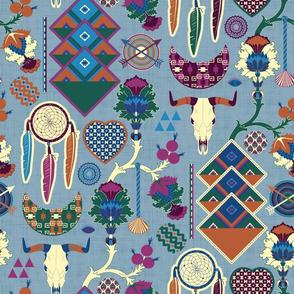 Bohemian&Tribal (Blue)