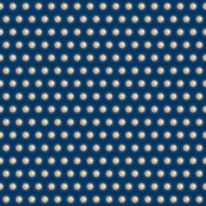 Polka Spheres Tan on Navy