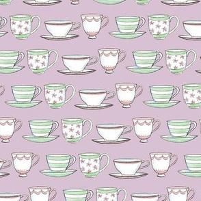 afternoon tea -cups of tea