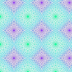 violet&green mosaic lace