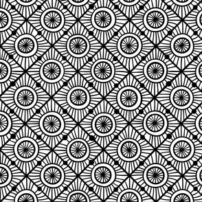 black and white boho