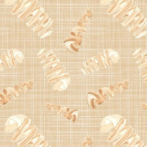 Nautical Shell watercolor tan taupe white || Ocean water sea linen brown  _ Miss Chiff Designs