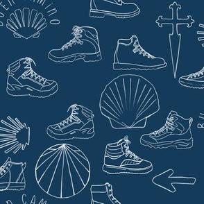 Camino Hiking Boots on Dark Blue