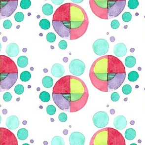 Watercolor Spiral Dot