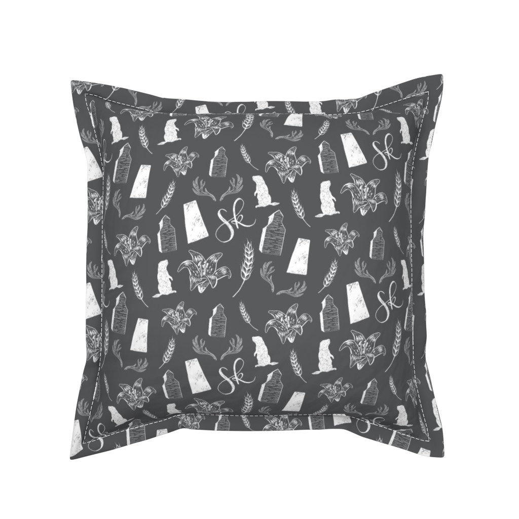 Serama Throw Pillow featuring Prairies - Dark by courtneyrosedesign