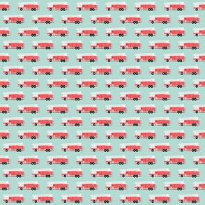(micro print) fire truck fabric