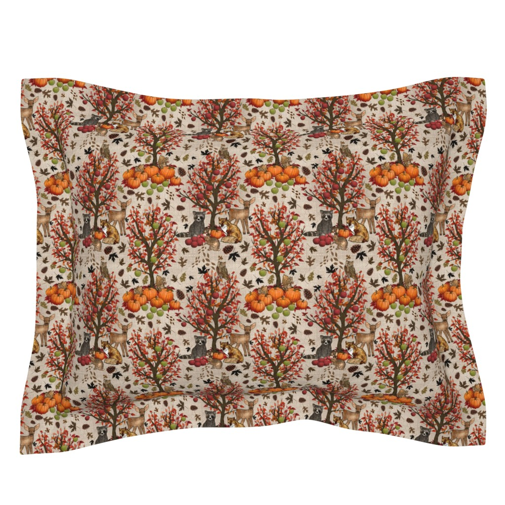 Sebright Pillow Sham featuring Woodland Heart by irishvikingdesigns
