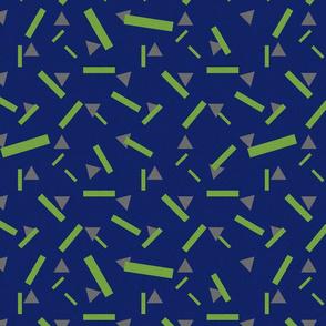 Rotary Dialling Confetti Blue