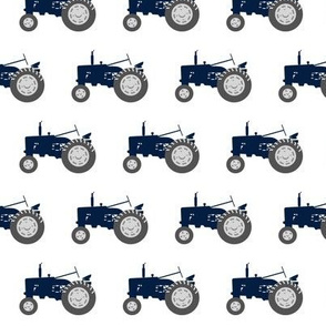 tractors - navy and dusty blue farm collection