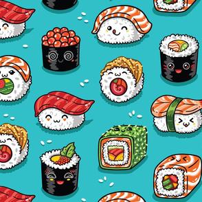 Cute kawaii sushi