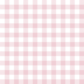 "1"" Ballet Slipper Pink Gingham"
