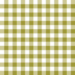 "1"" Golden Lime Gingham"