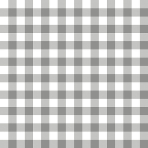 "1"" Neutral Gray Gingham"