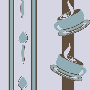 Coffee Cup Spoon Stripes