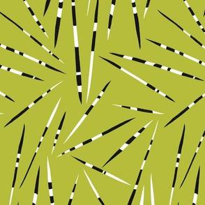 Porcupine Quills - African Print - Avocado