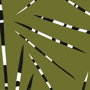 Jumbo Porcupine Quills - African Print - Forest