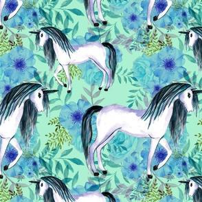 unicorn floral background