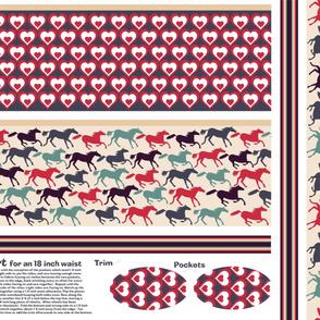 wild horses reversible skirt pattern