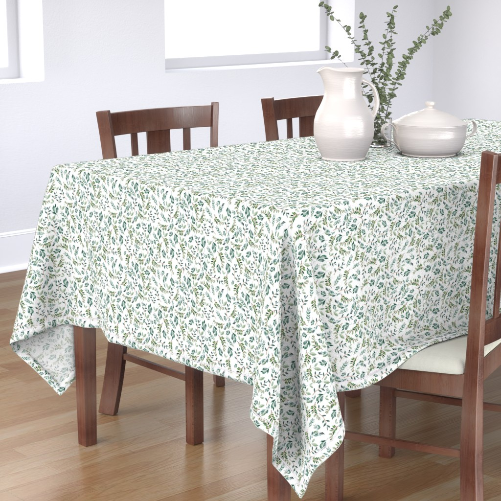 """Bantam Rectangular Tablecloth featuring 8"""" Wild at Heart Branches / White by shopcabin"""