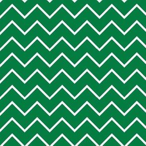 green traditional chevron - farm collection coordinate