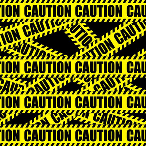 2 caution barricade construction notice warning danger hazard barrier police firefighter tape diagonal stripes life sized pop art novelty