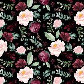 """4""""  Wild at Heart Florals / Black"""