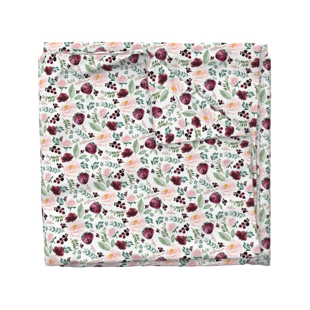 "Wyandotte Duvet Cover featuring 8"" Wild at Heart Florals / White by shopcabin"